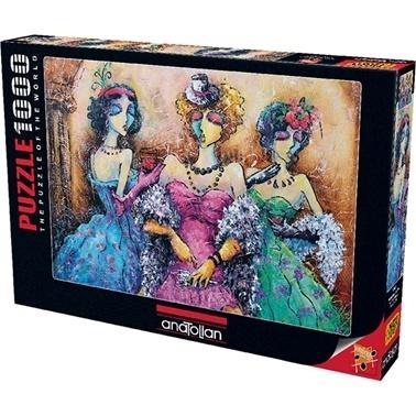 Anatolian  Puzzle 1000 Parça Kadınlar Partisi 1041 Renkli